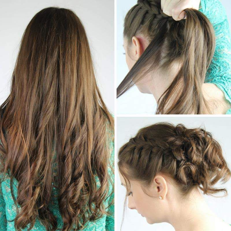 Easy #Bun With Quick Curls For Everyday #summerupdo2018 # ...