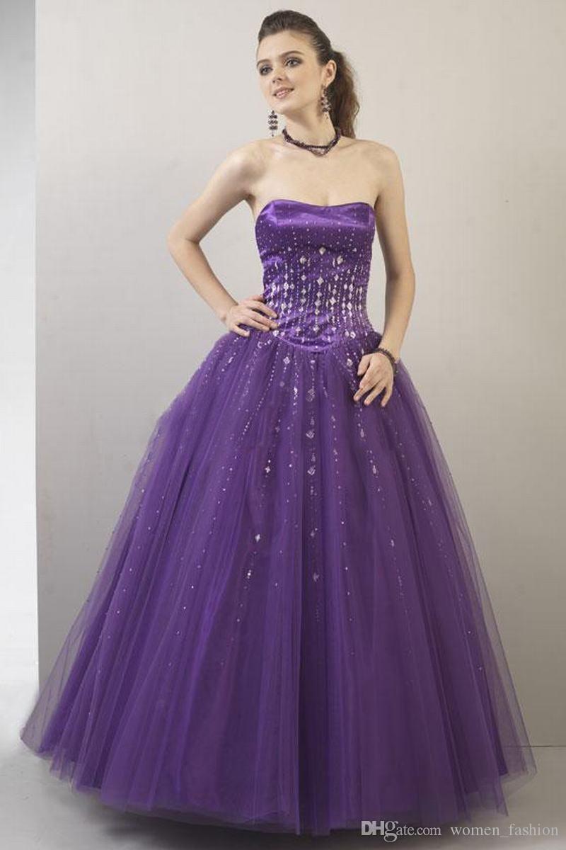 Discount purple new fashion elegant party dress custom made