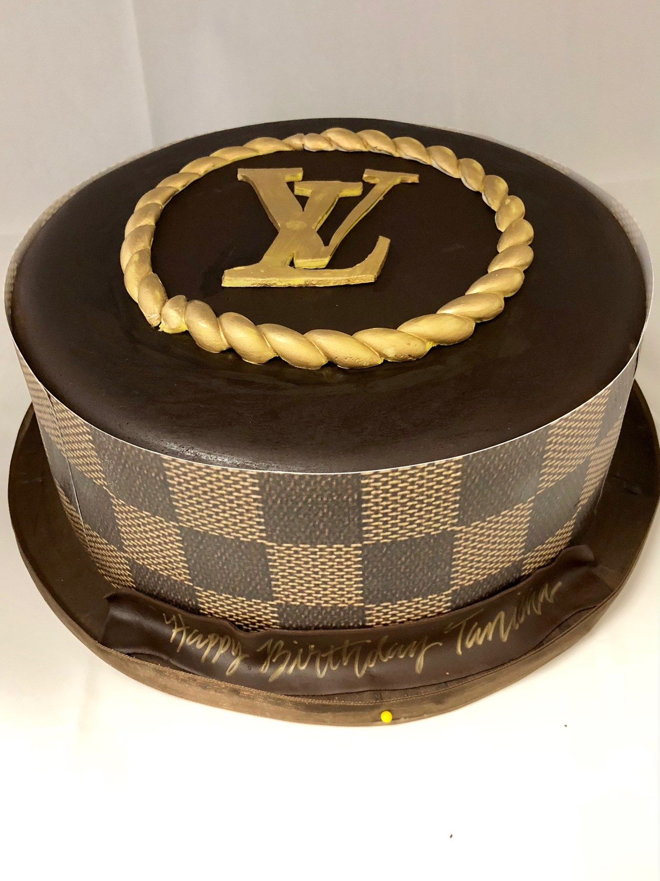 Stupendous Louis Vuitton Inspired Cake Fb 126 With Images Louis Vuitton Personalised Birthday Cards Veneteletsinfo