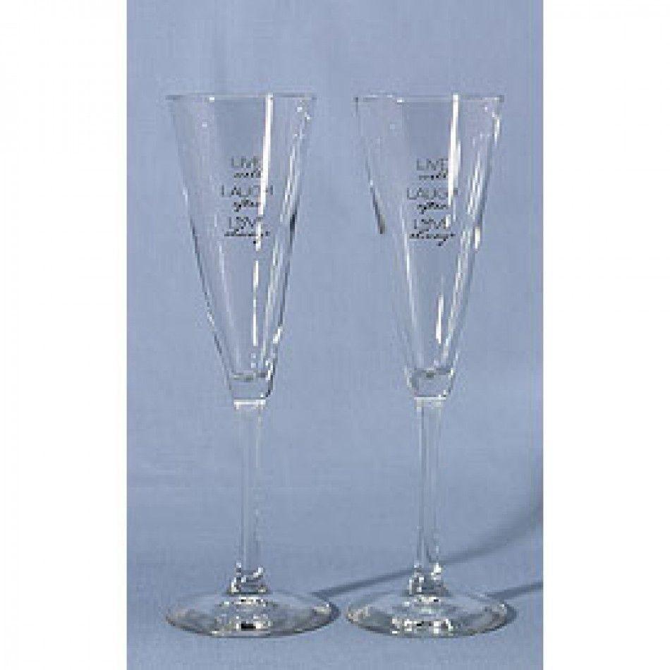 Live Laugh Love Flutes 32441 Hb32441 Wedding Toasting Flutes