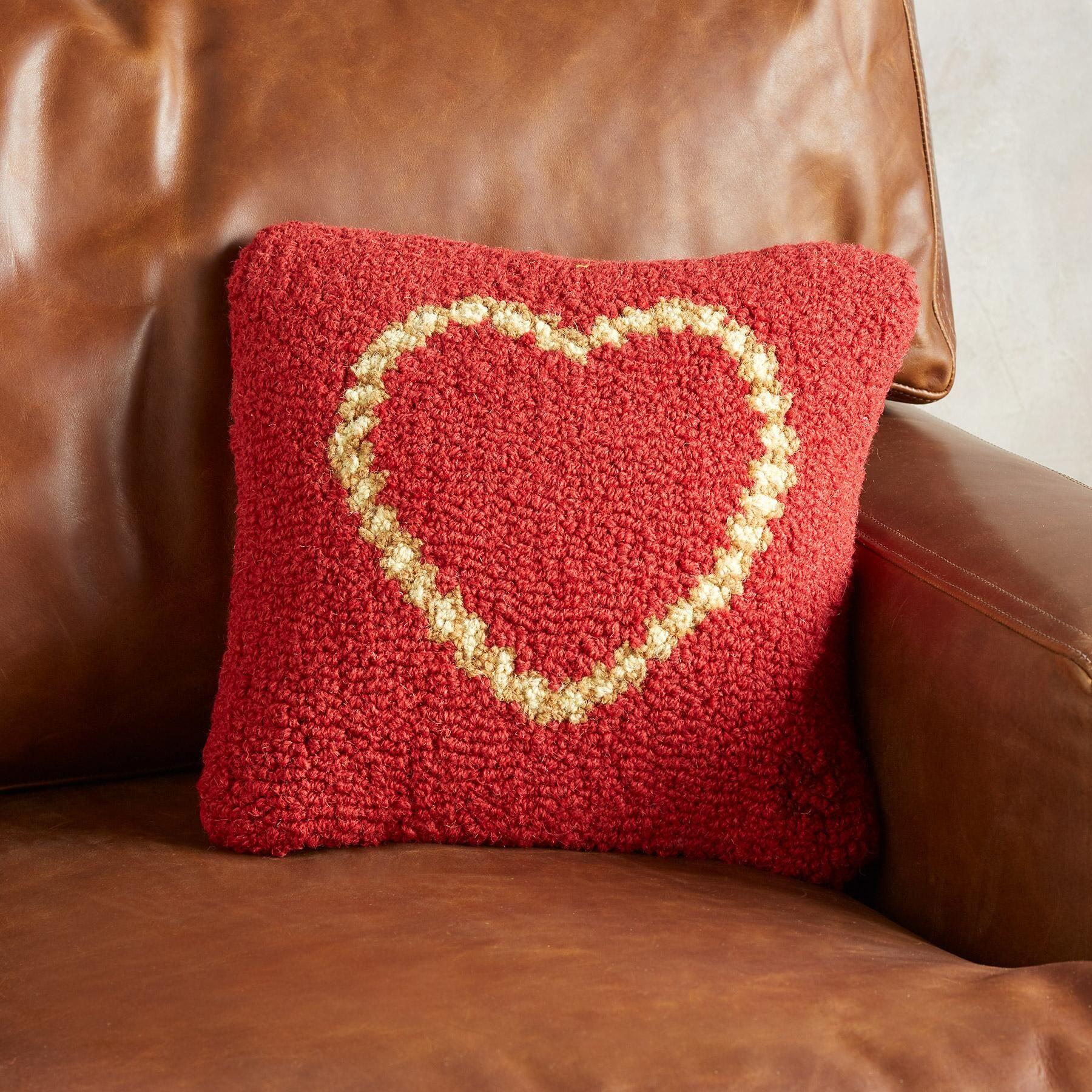 ROPE HEART PILLOW Handmade, hand