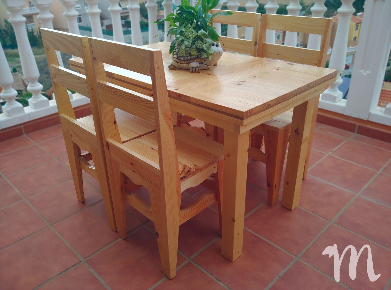 Mesa de comedor grande luj n mesa de comedor hermanos for Comedores rusticos pequenos