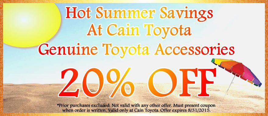 Get 20 Off Genuine Toyota Accessories with this coupon