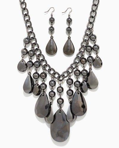 Polished Prism Statement Set | Necklaces | charming charlie