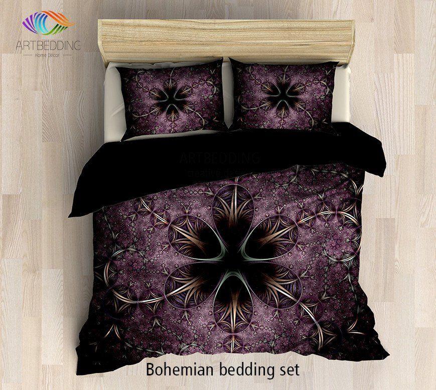 Mandala bedding, Harmony mandala duvet cover set, Boho bedding, Bohemian bedroom decor | ARTBEDDING
