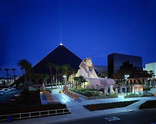 Luxor Hotel Casino Las Vegas Nevada Egyptisk Tema Der Er
