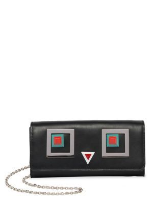d27328a8fa5a FENDI 2Jours Square Eyes Leather Chain Wallet.  fendi  wallet ...