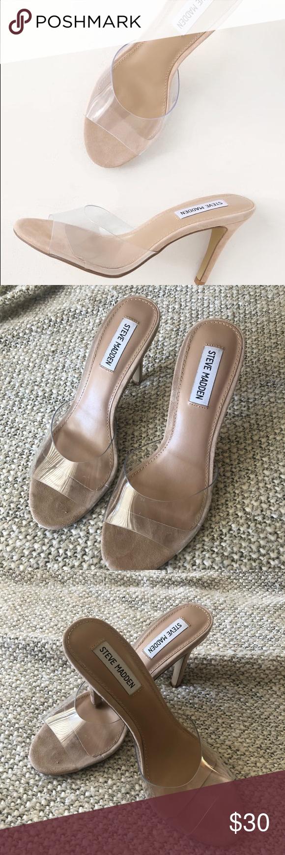 Erin clear high heels Steve Madden