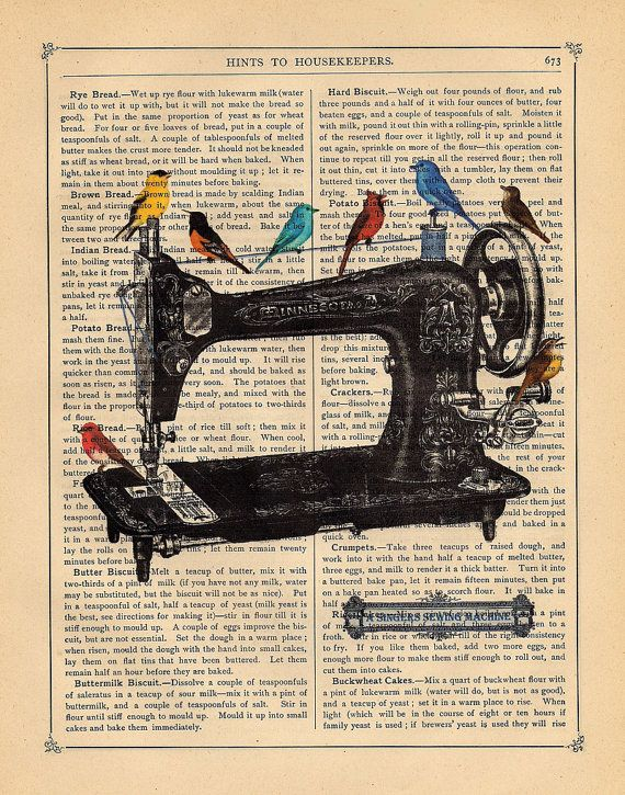 Art Print A Singers Sewing Machine Im Kind Of Fascinated With
