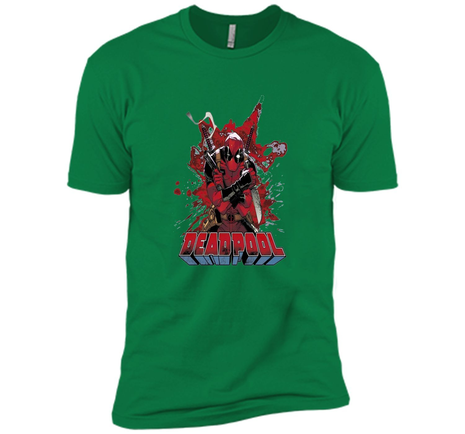 Marvel Deadpool Blood Graphic T-Shirt
