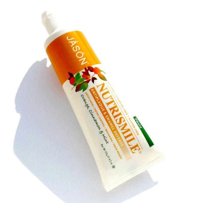 Jāsön Nutrismile – přírodní zubní pasta s pomerančem, skořicí a mátou