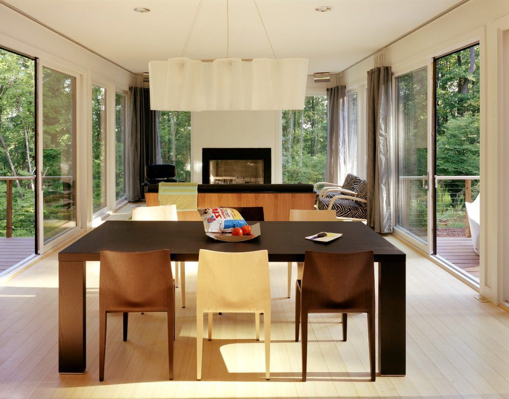 Open Space Living Room Modern With Plywood Dining Chairs Seating Area