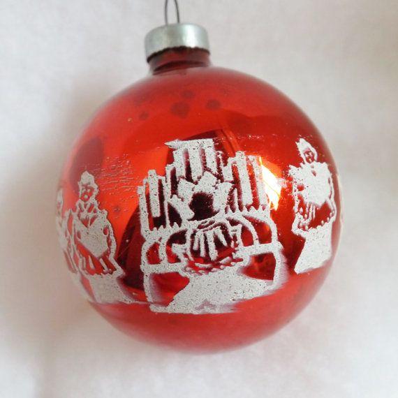 Vintage Mercury Glass Christmas Ornament 1950/'s Angel Choir