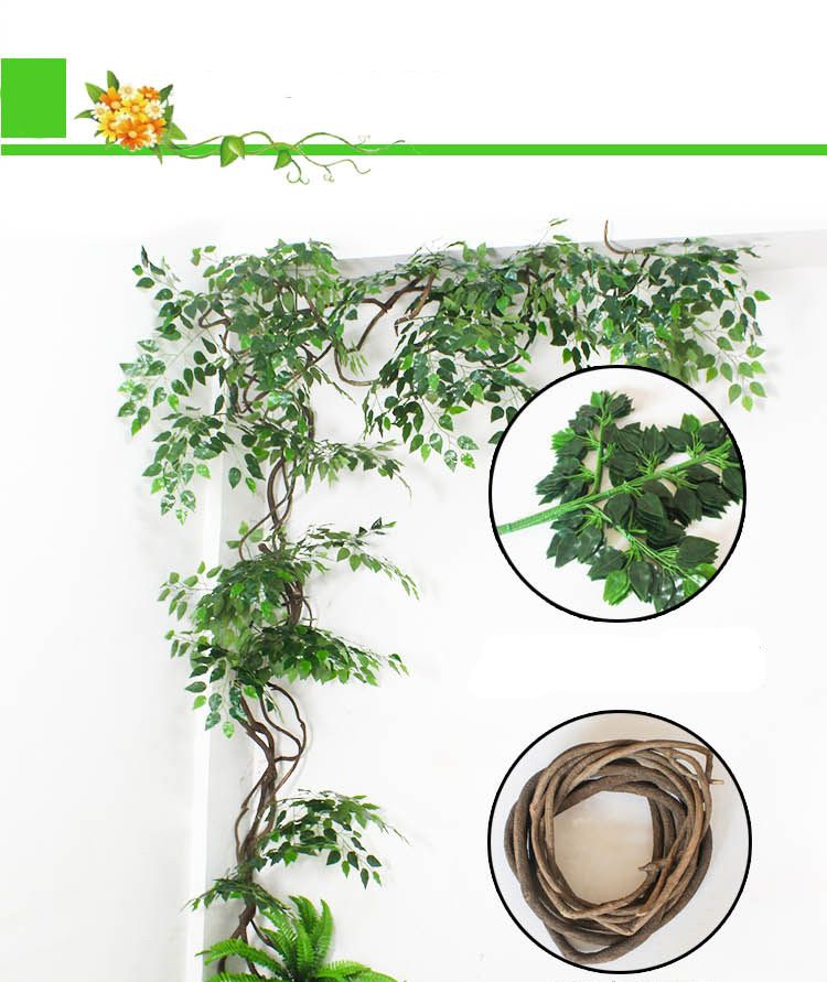 Cheap plant leaf buy quality plastic plants directly from china china wedding arch suppliers wedding arch backdrop 63cm green artificial fake banyan plastic plant leaves branches home garden wall decoration supplies junglespirit Choice Image