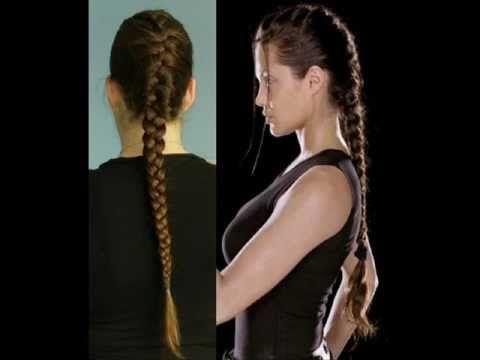 Hair Tutorial French Braid Inspired By Lara Croft Angelina Jolie Hair Rock Hairstyles Lara Croft Angelina Jolie