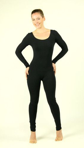 Women\'s Cotton or Nylon Neon Dance Catsuit LONG SLEEVE UNITARD