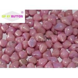 Spiky Button Ch. White Lila L. 4.5x6x5mm, per 20st