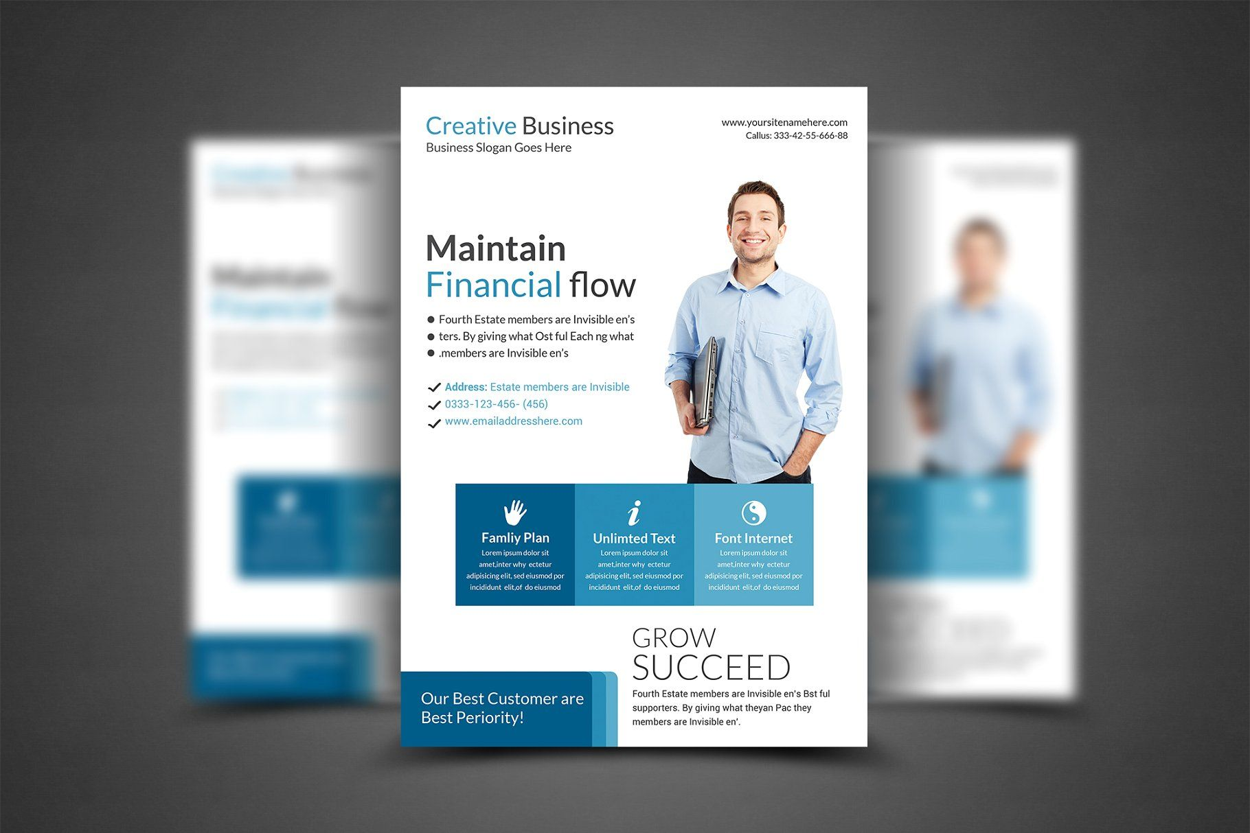 A4 clean business flyer cleanbusinesstemplatesflyer