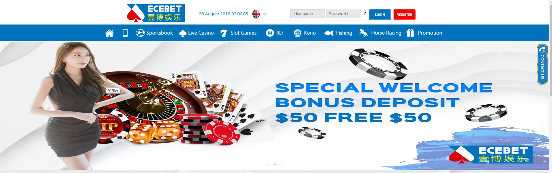 ECEBET is an officially registered online gaming company