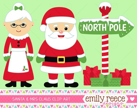 Santa Claus Mrs Claus Christmas by EmilyReeceDesigns ✣∫✣∫~I ℬ