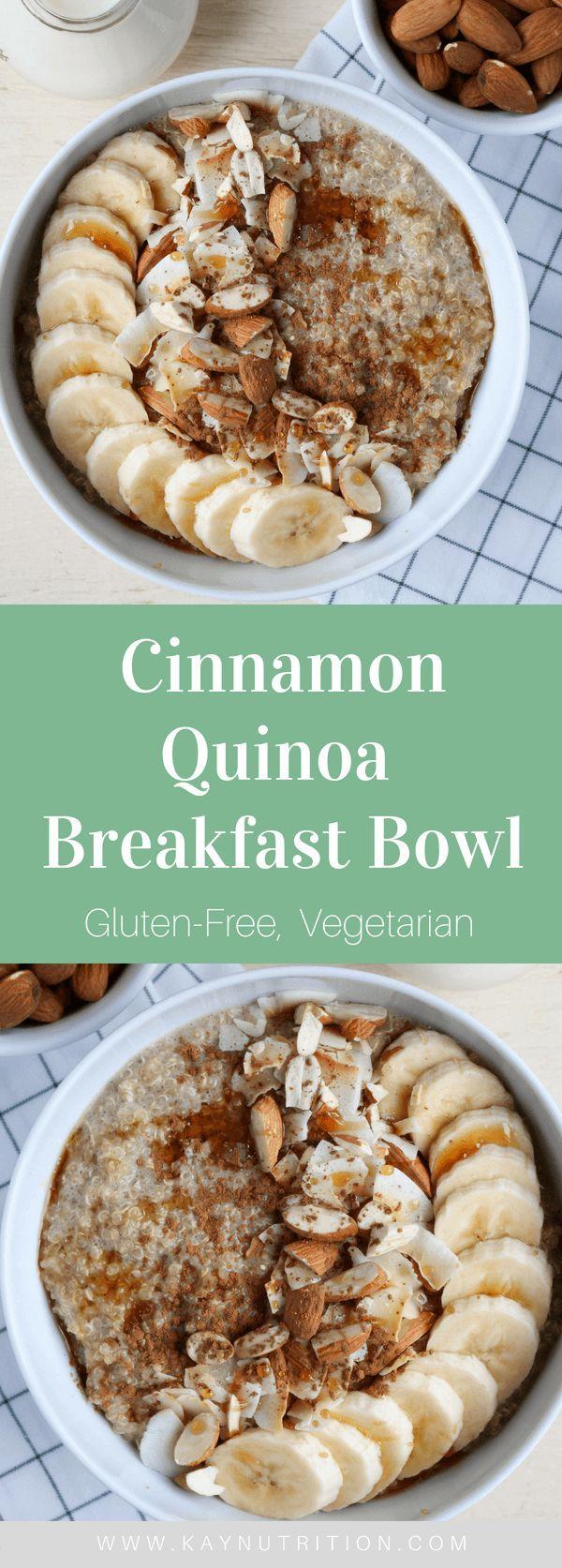 Cinnamon Quinoa Breakfast Bowl images