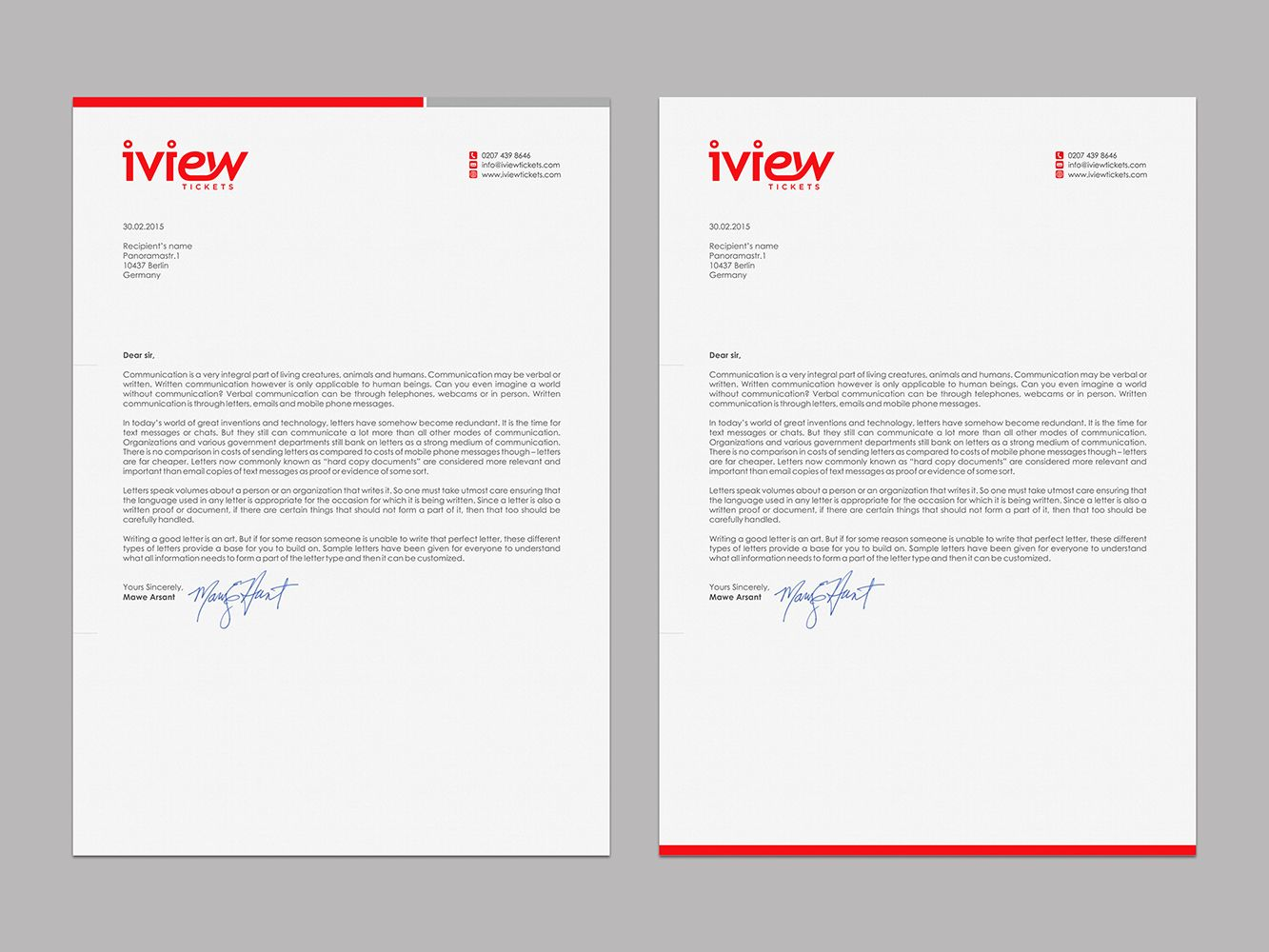 Letterhead Design By Logodentity For Letter Head Use On Daily Correspondence With Other Companies