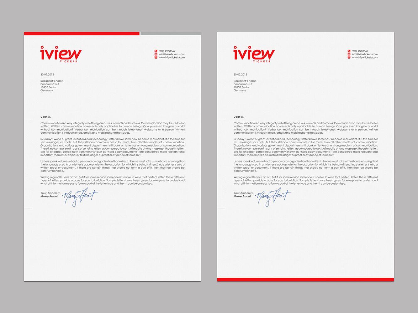 professional company letterhead