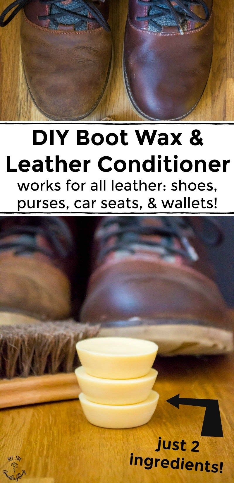 Diy Boot Wax Leather Conditioner Works For All Leather Shoes Purses Wallets Car Seats Leather Conditioner Diy Leather Shoes Diy Leather Conditioner