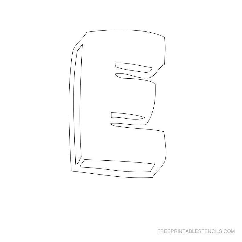 Printable Bubble Letter Stencil E Bubble Letters Pinterest