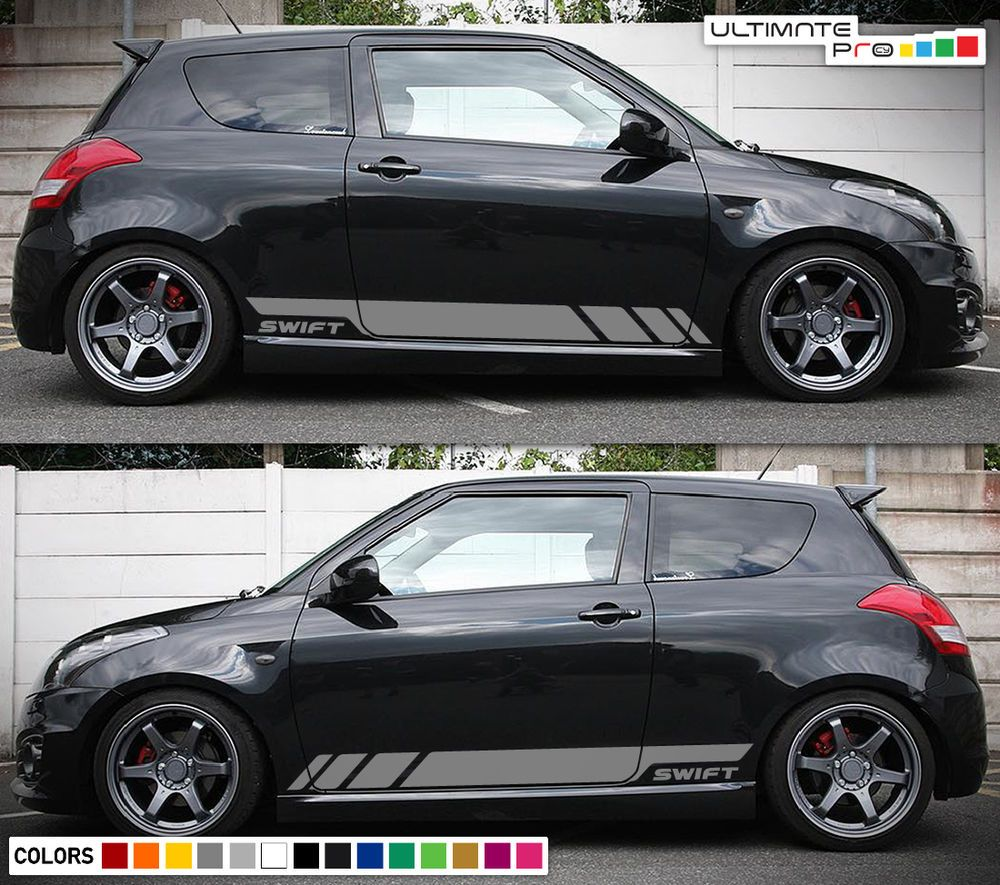 Details About Sticker Decal Graphic Side Stripe Kit For