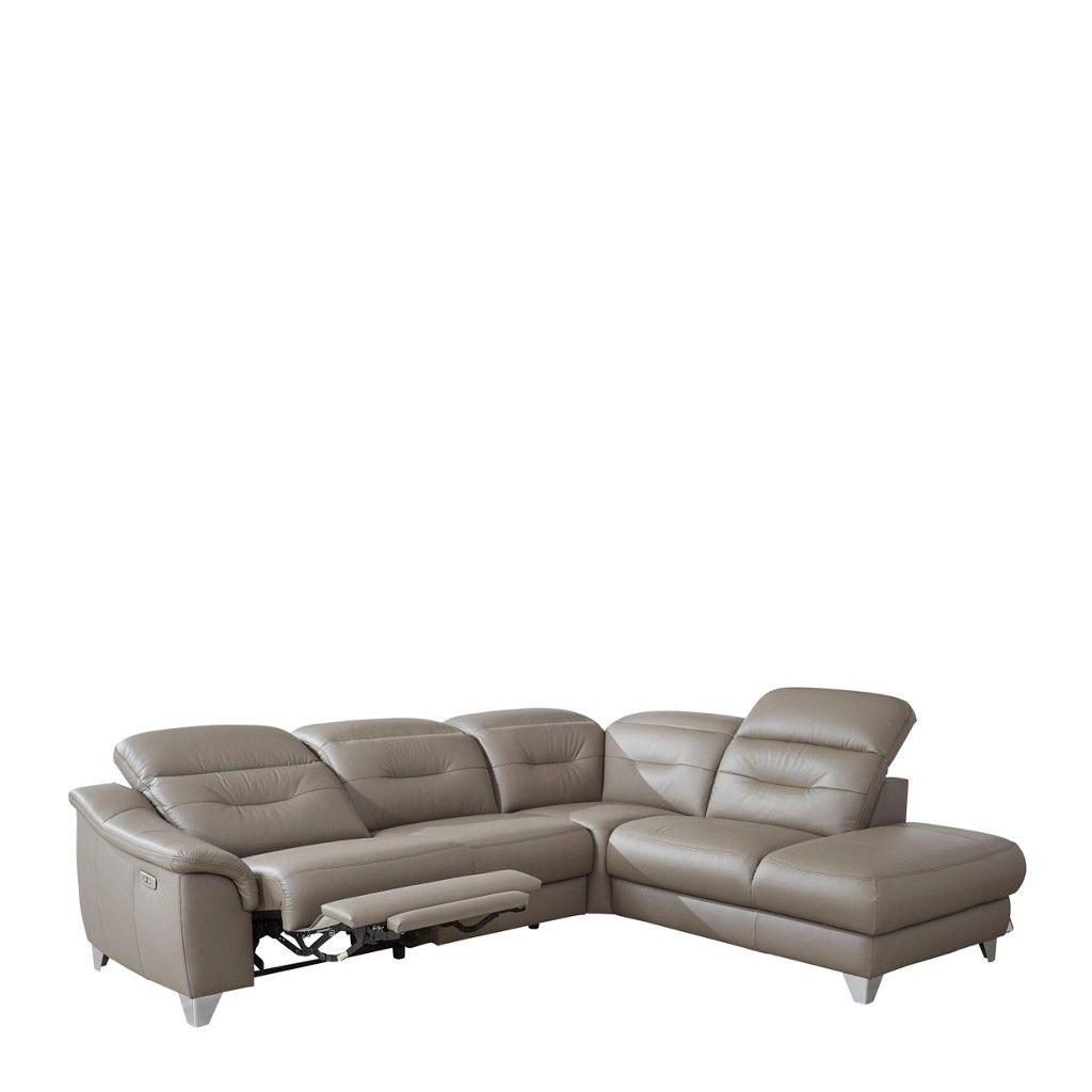 Innenarchitektur Couch Relaxfunktion Ideen Von Wohnlandschaft Kombination Echtleder/lederlook Inkl.kopfteilverstellung, Relaxfunktion, Grau Jetzt
