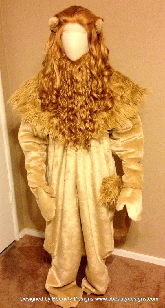 Cowardly Lion Menu0027s Wizard of Oz Wig by Bbeauty79 on Etsy : cowardly lion costume  - Germanpascual.Com