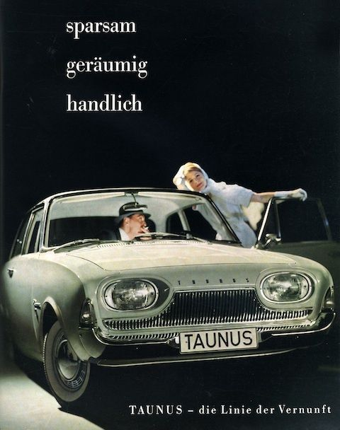 Werbung für den Ford Taunus im Jahr 1961 - -