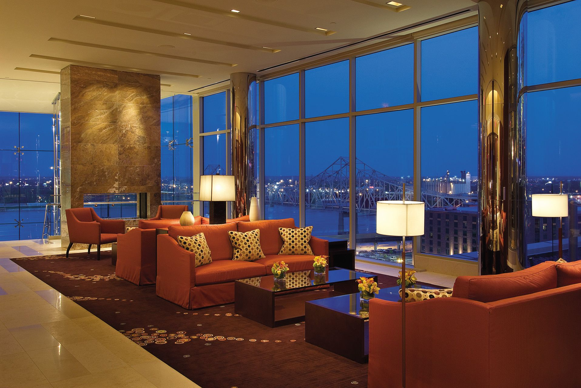 Contemporary Furniture With Modern Design Elements Welcome Guests In Our  8th Floor Lobby.