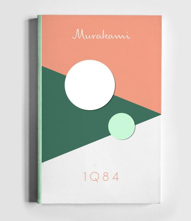 Cover Up #4: 1Q84 | Book cover design, Book covers and June