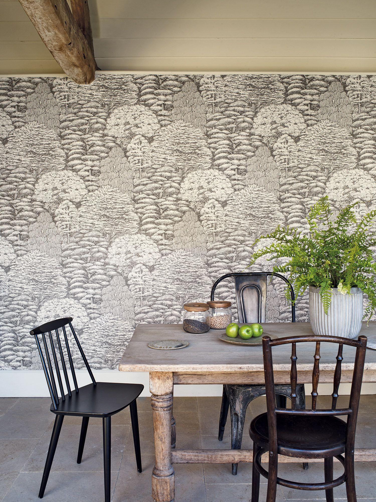 Sanderson wallpaper Woodland Toile This design creates