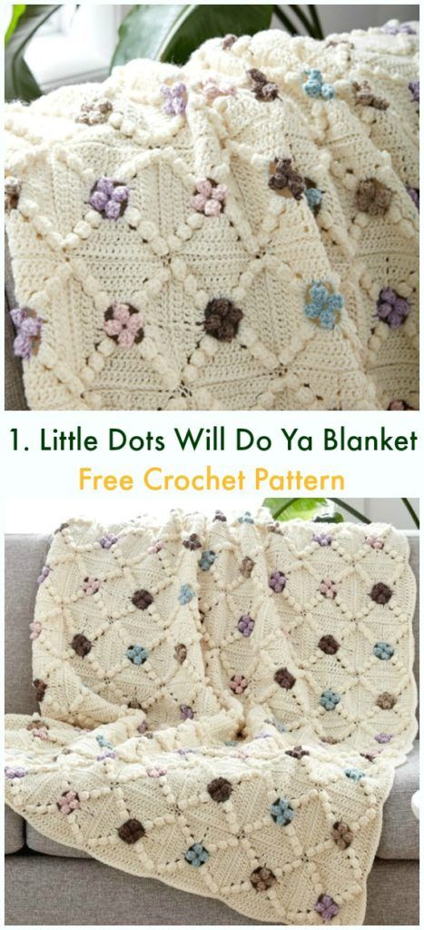 Bobble & Popcorn Blanket Free Crochet Patterns | Colchas | Pinterest ...