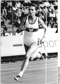 Marita Koch Olypiasiegerin 400m Lauf Leichtathletik Sportler Olympische Sommerspiele