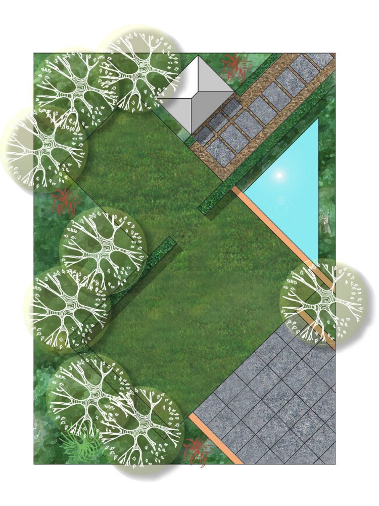 Garden Design Rectangular Plot diagonal garden layout | inspiration - garden plans - plans pour