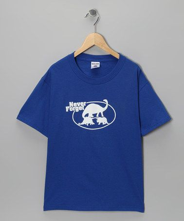 Take a look at this Royal Blue 'Never Forget' Tee - Kids & Adult by Crazy Dog on #zulily today!