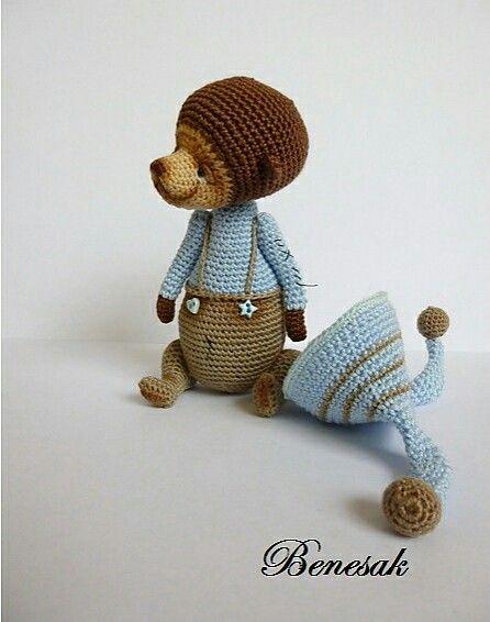 Teddy bear by benesak   Miniaturas en Amigurumis   Pinterest ...