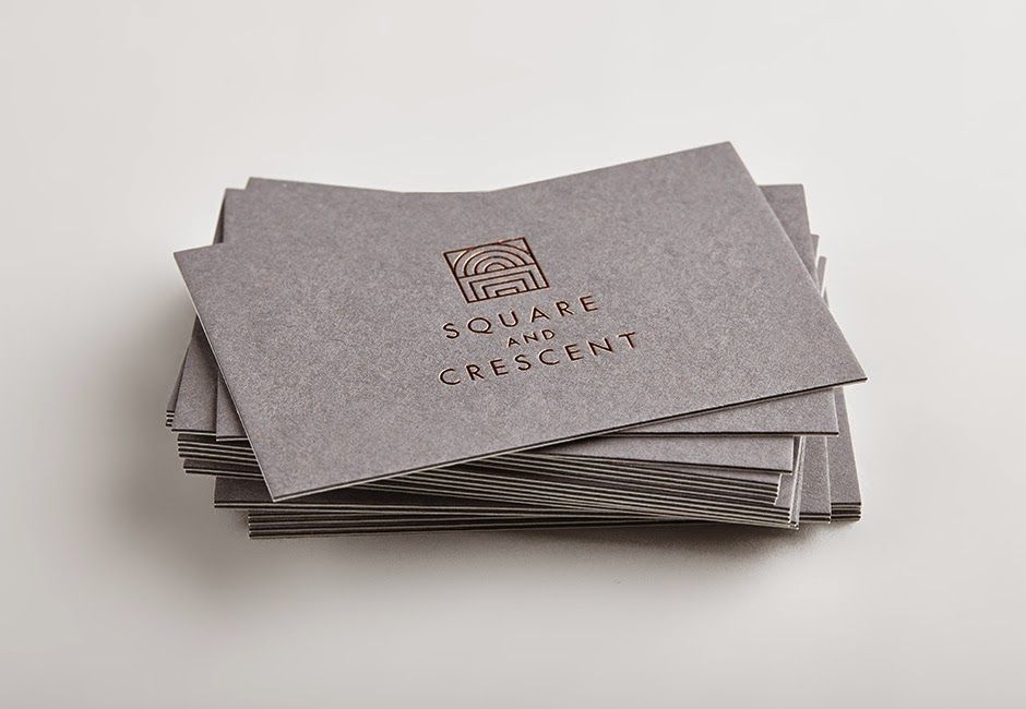 Good Design Makes Me Happy Project Love Square And Cresent Business Card Logo Design Business Cards Layout Innovative Business Cards