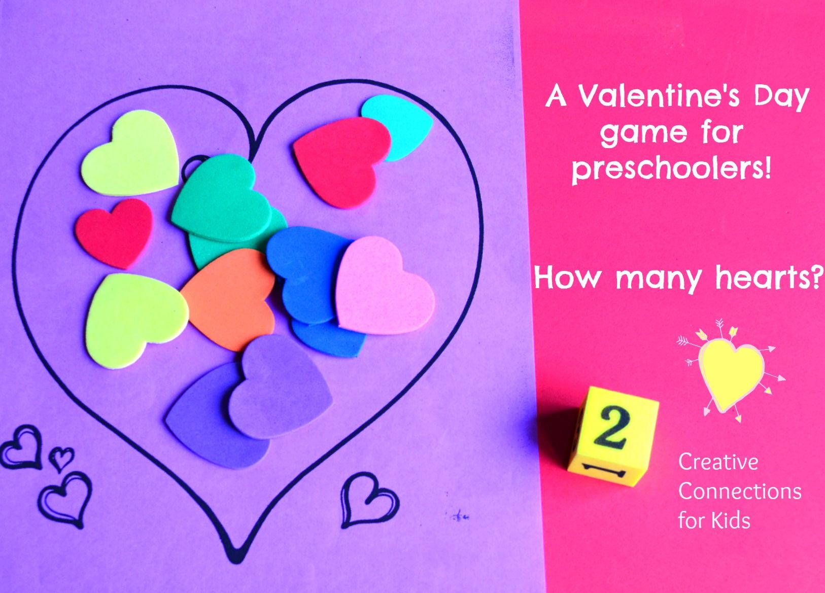 A Valentine's Day math game for preschoolers - Creative ...