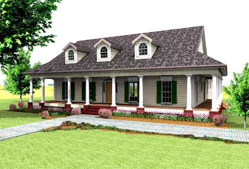 Country Style House Plans - 2123 Square Foot Home , 1 Story, 3 ...