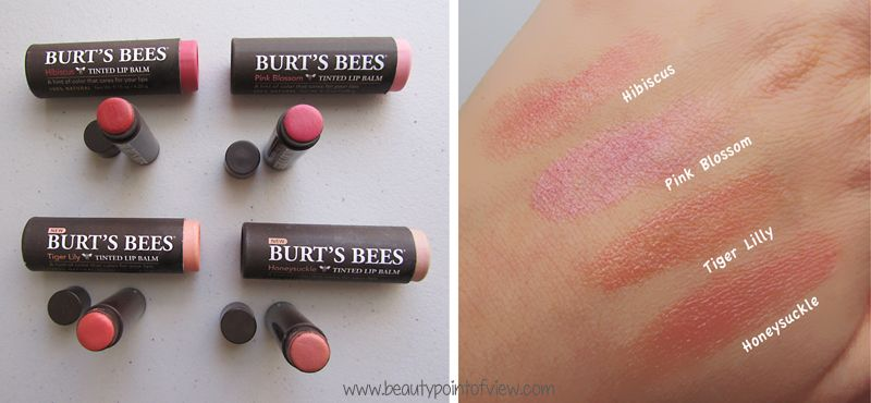 Burt S Bees Tinted Lip Balm I Can T Live Without Hibiscus And P Burt S Bees Tinted Lip Balm Swatches Tinted Lip Balm Swatches Burt S Bees Lip Shimmer Swatches