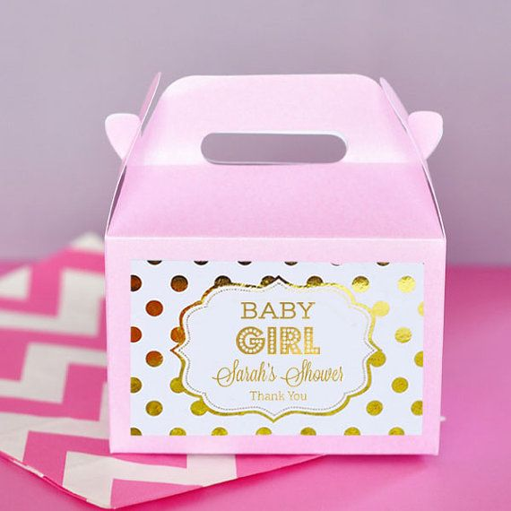Pink And Gold Baby Shower Favor Boxes   Girl Baby Shower Party Favors   Baby  Girl Favors   Baby Shower Favors Girl (EB2313FB)   Set Of 12