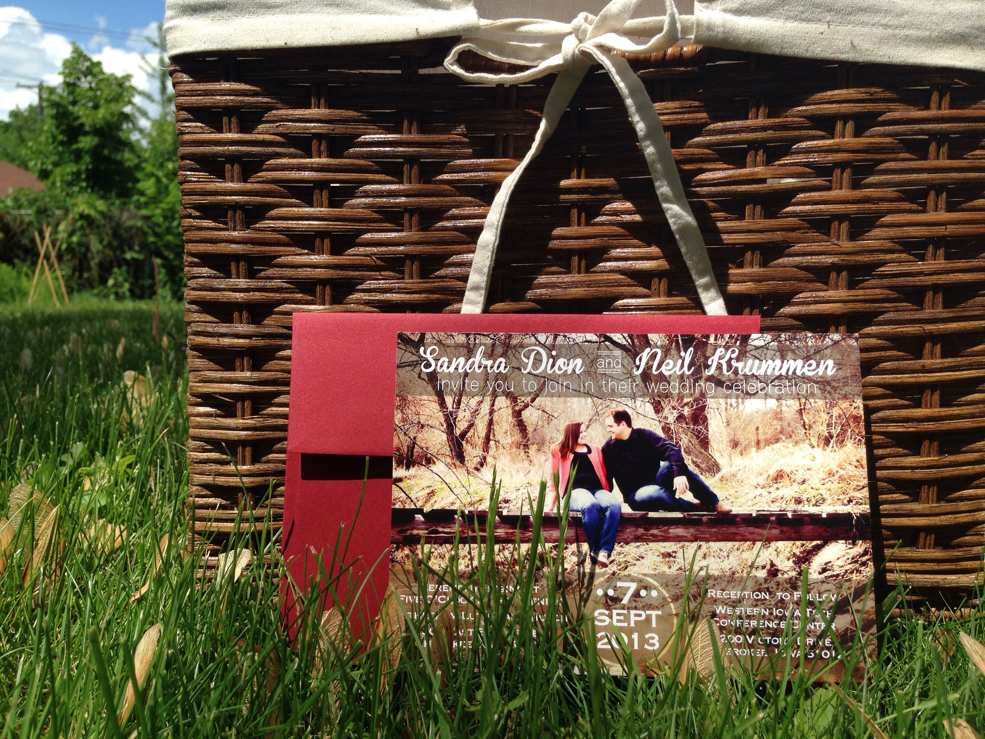 Country themed wedding invitation designed by Con Amore www ...