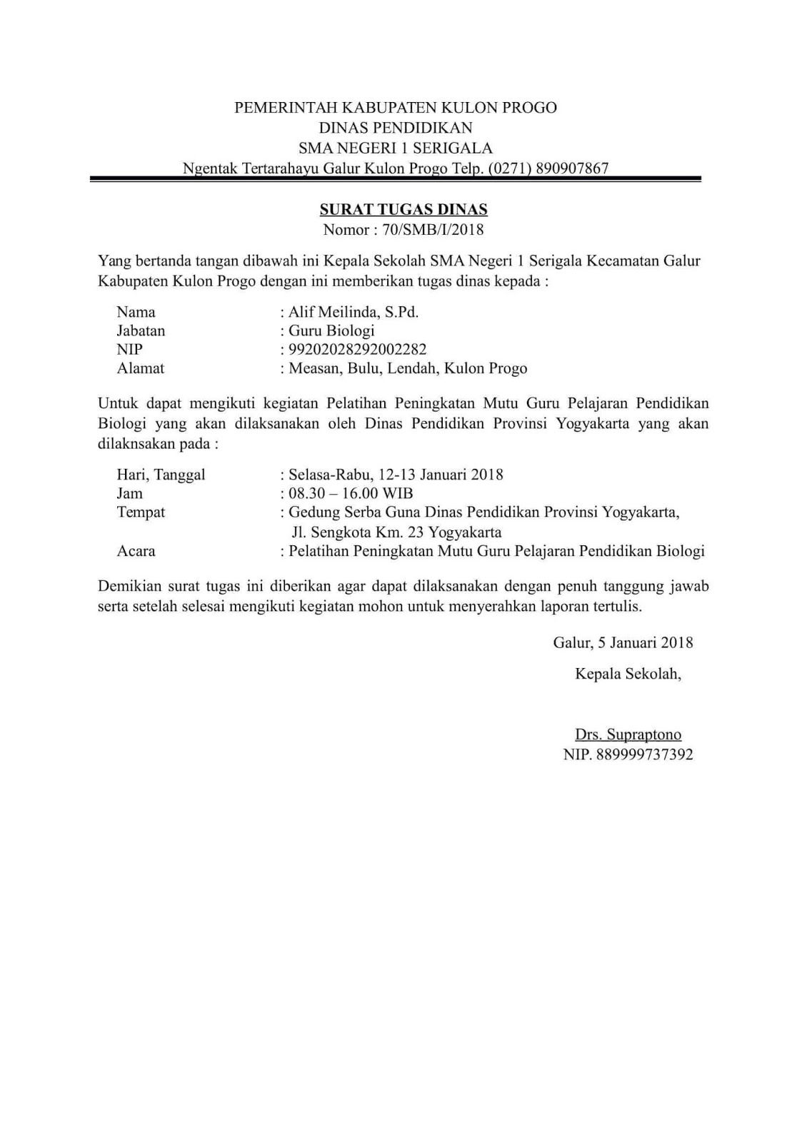 Contoh Surat Tugas Doc M Post Date Find Image
