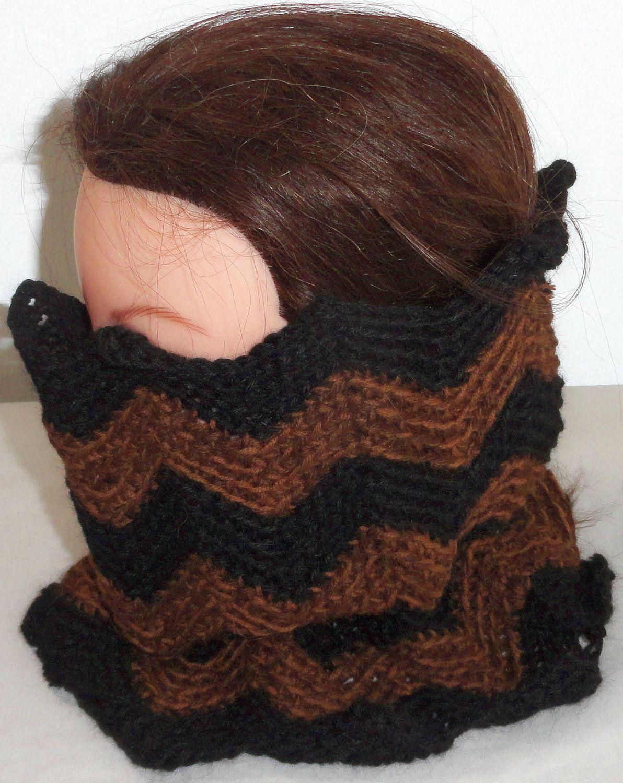 Black Brown Multi Colored Crochet Neck warmer, Cowls, Alpaca Yarn, Merino Wool Yarn, Luxurious, soft  50% Baby Alpaca 50 Merino Yarn - pinned by pin4etsy.com