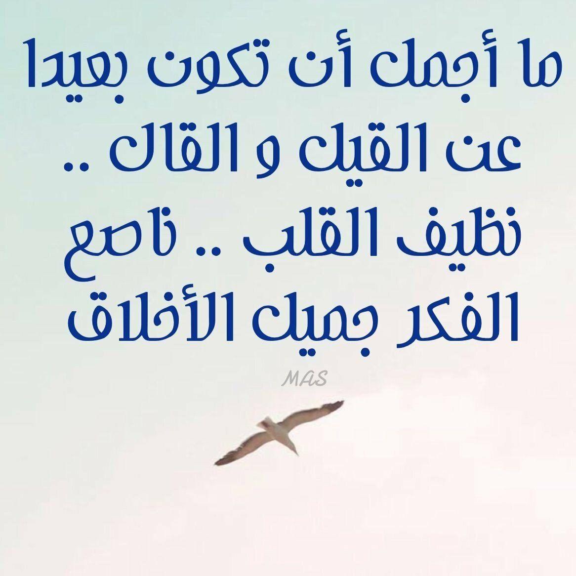 حكم أقوال خلفيات رمزيات الفيسبوك ما أجمل أن تكون بعيدا عن القيل والقال Wisdom Quotes Life Wisdom Quotes Love Words